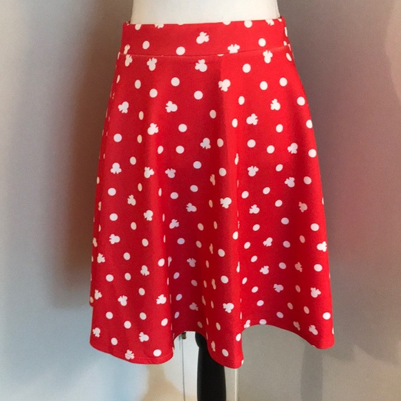 47aede4af Disney Skirts | S Minnie Mouse Red White Polka Dot Skirt | Poshmark